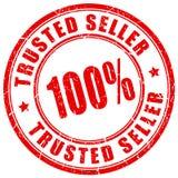 Trusted seller vector stamp. Trusted seller rubber vector stamp vector illustration
