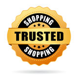 Trusted shopping emblem Royalty Free Stock Images