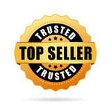 Trusted top seller gold vector icon Royalty Free Stock Photo
