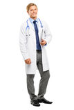 Trusted young Doctor isolated on white background Royalty Free Stock Photo