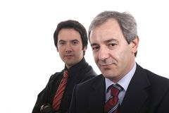 Two businessmen portrait Royalty Free Stock Photography