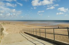 Trusthorpe beach Stock Image