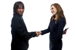 Trusting man and woman. Trusting men and women on white background Stock Photography