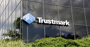 Trustmark Bank Sign Royalty Free Stock Photography