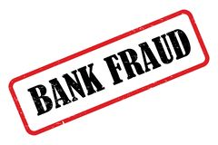 Bank Fraud stamp. An illustration of a rubber stamp with the text Bank Fraud royalty free illustration