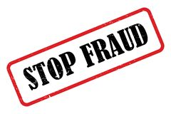 Stop fraud. An illustration of a rubber stamp with the words Stop Fraud vector illustration