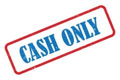 Cash only stamp. On white stock illustration
