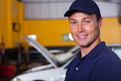 Trustworthy auto mechanic Royalty Free Stock Images
