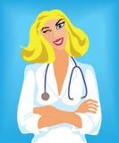 Trustworthy beautiful doctor Stock Photo