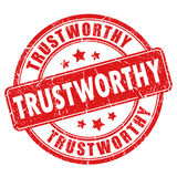Trustworthy rubber stamp Stock Images