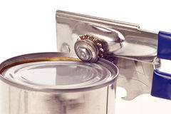 Trusty Old Manual Can Opener With Can Royalty Free Stock Images