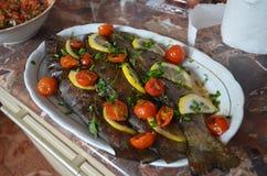 Truta cozida forno Foto de Stock
