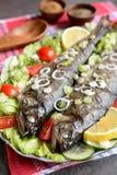 Truta Roasted com vegetal Fotos de Stock