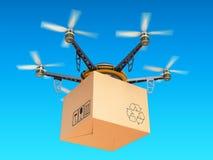 Truteń ekspresowa lotnicza dostawa w niebie, airmail pojęcie ilustracji