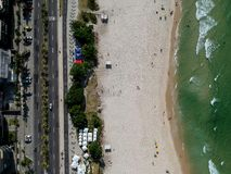 Truteń fotografia Barra da Tijuca plaża, Rio De Janeiro, Brazylia Obraz Stock