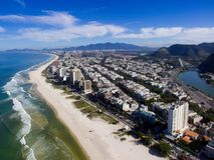 Truteń fotografia Barra da Tijuca plaża, Rio De Janeiro, Brazylia Obrazy Royalty Free