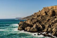 Truteń fotografia niewygładzony wybrzeże Malta zdjęcia royalty free
