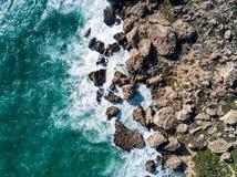 Truteń fotografia niewygładzony wybrzeże Malta obrazy stock