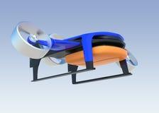 Truteń z hybrydowym trybem który może podnosić up pionowo i latający jak normalny samolot Zdjęcia Royalty Free