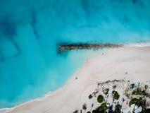 Truteń fotografia molo w graci zatoce, Providenciales i Caic, turczynki Zdjęcia Royalty Free