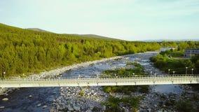Truteń Lata Nad Rzecznym mostem zbiory wideo