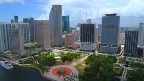 Truteń powietrzny wideo W centrum Miami Floryda zbiory