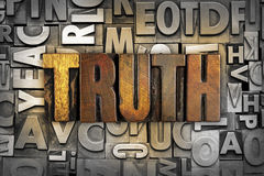 Truth. The word TRUTH written in vintage letterpress type royalty free stock images