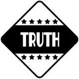 TRUTH on black diamond shaped sticker label. Illustration Stock Images