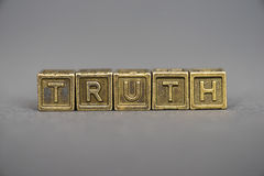 Truth blocks Stock Photography