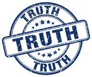Truth blue grunge round vintage stamp. Truth blue grunge round vintage rubber stamp Royalty Free Stock Photos