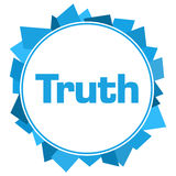 Truth Blue Random Shapes Circle Royalty Free Stock Photography