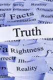Truth Concept. A conceptual look at truth, the bright shining honest truth stock photos