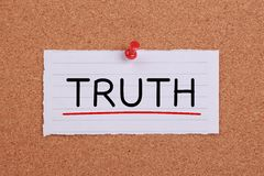 Truth Concept Royalty Free Stock Photography