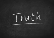 Truth. Concept word text on blackboard background royalty free stock image