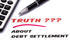 Truth about debt settlement Stock Photos