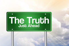 The Truth Green Road Sign Stock Photo