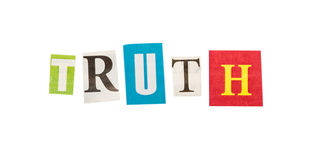 Truth inscription made with cut out letters Royalty Free Stock Photography