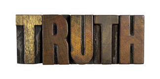 Truth Isolated on White Stock Photos