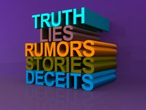 Truth, lies, rumours, stories and deceits Royalty Free Stock Photo