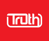 Truth Logo Design. COncept, AI 10 supported Stock Image