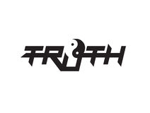 Truth Logo with Yin Yang Royalty Free Stock Images