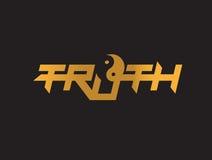 Truth Logo with Yin Yang Royalty Free Stock Photos