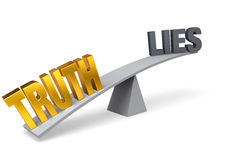 Truth Outweighs Lies Stock Images