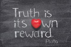Truth own reward Plato Royalty Free Stock Images