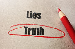 Truth red circle Royalty Free Stock Images