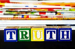 Truth word Royalty Free Stock Photography