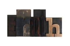 Truth, word written in letterpress type blocks Stock Image