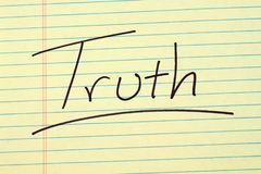 Truth On A Yellow Legal Pad Royalty Free Stock Photos