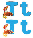Truthahn des Zeichens T Lizenzfreie Stockfotografie