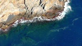 Trutnia krajobrazowy materiał filmowy w Costa Brava nabrzeżny blisko grodzkiego Palamos zbiory wideo